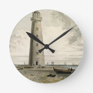 The Orford Nefs Lighthouses, Suffolk, from Volume Round Wall Clock
