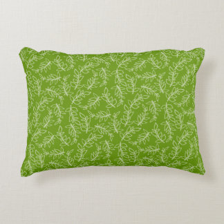 The Organic Green Pattern Art Accent Pillow