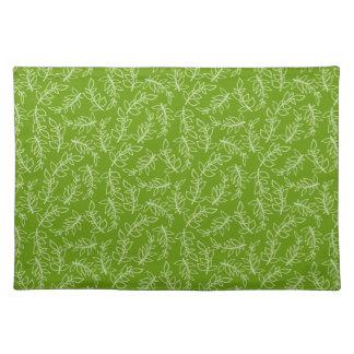 The Organic Green Pattern Art Placemat