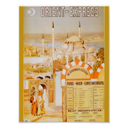 The Orient Express from Paris Poster