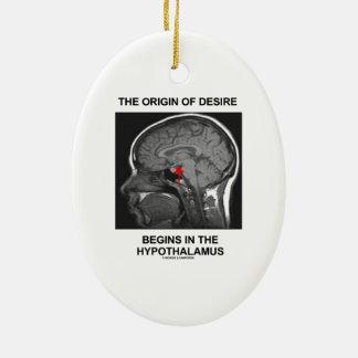 The Origin Of Desire Begins In the Hypothalamus Ceramic Ornament