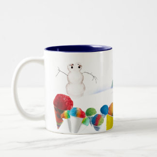 The Origin of Snowcones Two-Tone Coffee Mug
