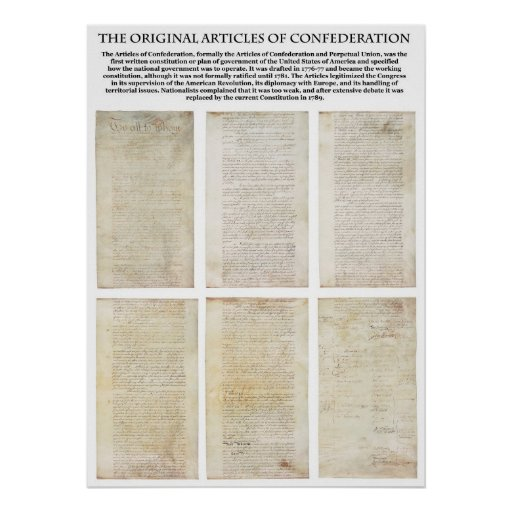 The ORIGINAL American Articles of Confederation Posters