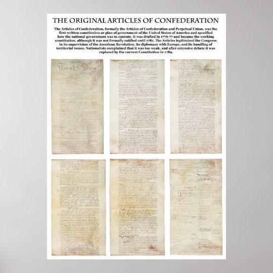The ORIGINAL American Articles of Confederation Poster