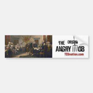 The Original Angry Mob Car Bumper Sticker
