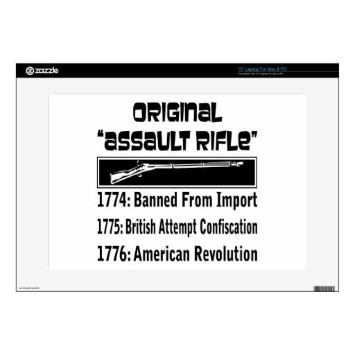The Original Assault Rifle  In 1774 Decals For Laptops