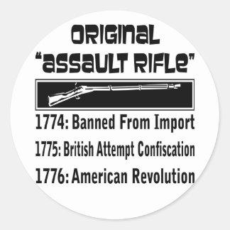 The Original Assault Rifle In 1774 Round Stickers