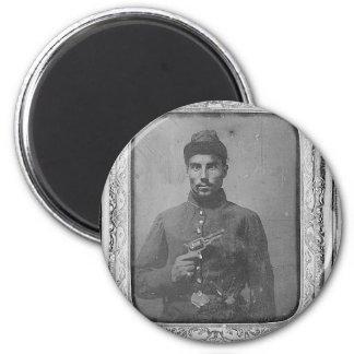 The Original Black American Soldier 2 Inch Round Magnet