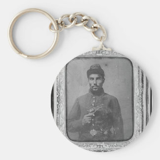 The Original Black American Soldier Keychain