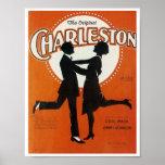The Original Charleston Vintage Song Sheet Cover Poster