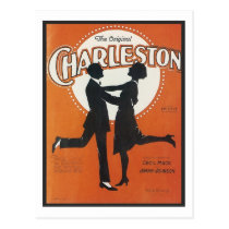 The Original Charleston Vintage Songbook Cover Postcard