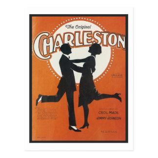 The Original Charleston Vintage Songbook Cover Postcard