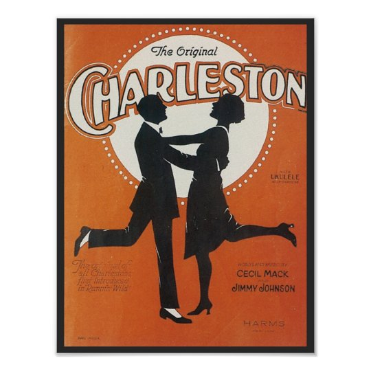 The Original Charleston Vintage Songbook Cover Poster