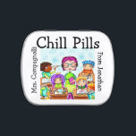 """The Original Chill Pills - Jelly Beans - SRF Jelly Belly Candy Tin<br><div class=""""desc"""">Customize and bring a smile to someone in need ... : ) As soon as I saw we carried jelly beans in these cute little containers, I remembered candy we had in our gift shops years ago (emergency pills) and thought these would be the perfect CHILL PILLS or Tension Tamers...</div>"""