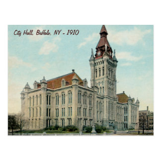 The Original City Hall in Buffalo Postcard