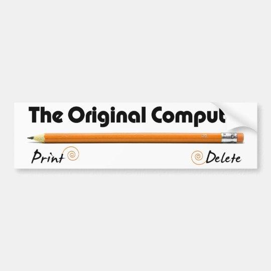 The Original Computer Bumper Sticker