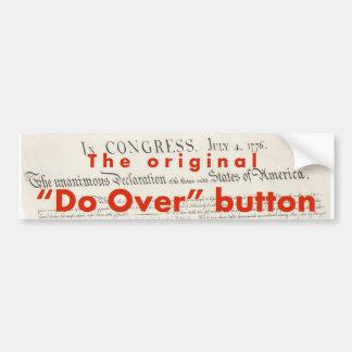 """The Original """"Do Over"""" Button Bumper Sticker"""