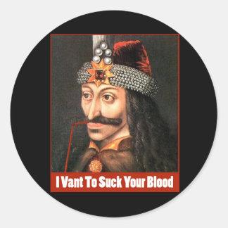 The Original Dracula, Halloween!!! Classic Round Sticker