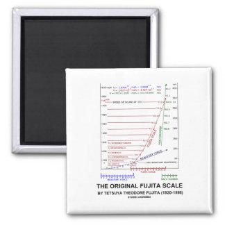 The Original Fujita Scale Tetsuya Theodore Fujita 2 Inch Square Magnet