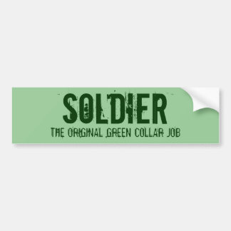 The Original Green Collar Job - Bumper Sticker Car Bumper Sticker