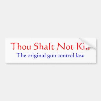 The Original Gun Control Law Bumper Sticker Car Bumper Sticker