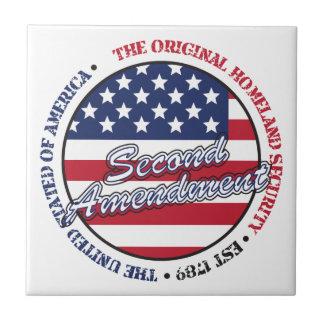 The original homeland security - Second amendment Tile
