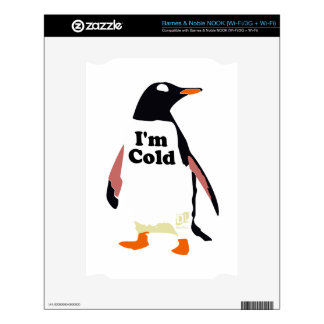 The original I'm cold penguin! Decal For NOOK