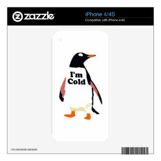 The original I'm cold penguin! iPhone 4 Decals