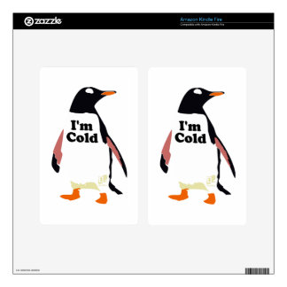 The original I'm cold penguin! Kindle Fire Skin