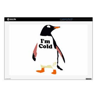 The original I'm cold penguin! Skins For Laptops
