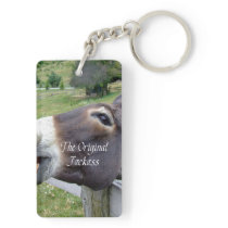 The Original Jackass Funny Donkey Mule Farm Animal Keychain