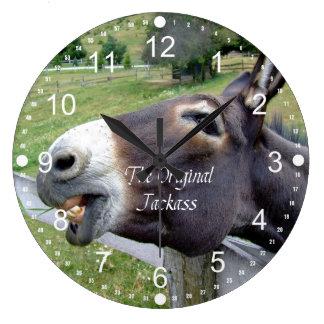 The Original Jackass Funny Donkey Mule Farm Animal Large Clock