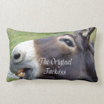 The Original Jackass Funny Donkey Mule Farm Animal Lumbar Pillow