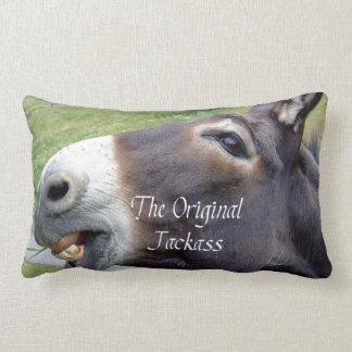 The Original Jackass Funny Donkey Mule Farm Animal Lumbar Pillow