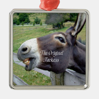 The Original Jackass Funny Donkey Mule Farm Animal Metal Ornament