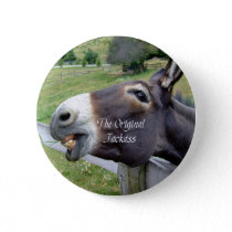 The Original Jackass Funny Donkey Mule Farm Animal Pinback Button