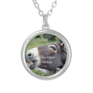 The Original Jackass Funny Donkey Mule Farm Animal Silver Plated Necklace