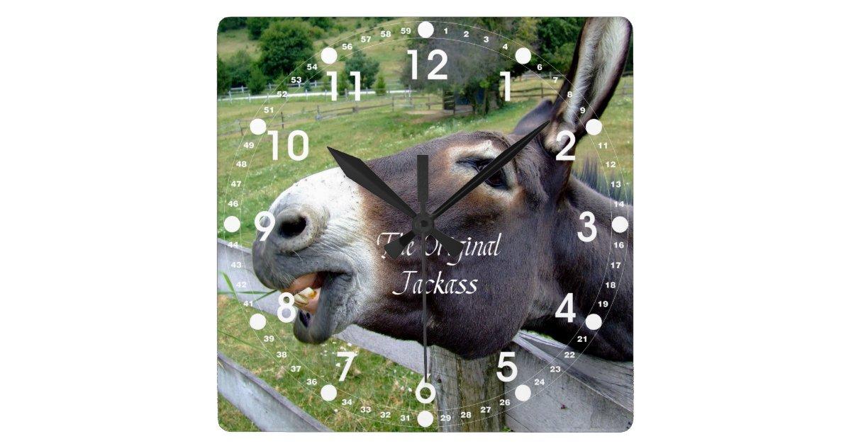 The Original Jackass Funny Donkey Mule Farm Animal Square