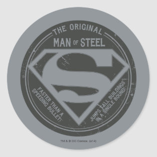 The Original Man of Steel Classic Round Sticker