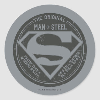 The Original Man of Steel Classic Round Sticker