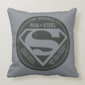 The Original Man of Steel Throw Pillows