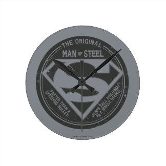 The Original Man of Steel Round Clock