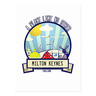 The original Milton Keynes travel design postcard