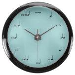 The Original Music Note Aqua Clock