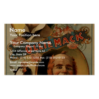The Original Ollie Mack Vintage Theater Business Cards