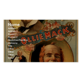 The Original Ollie Mack Vintage Theater Business Card Template