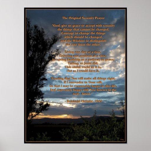 The Original Serenity Prayer Posters