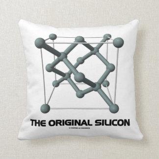 The Original Silicon (Silicon Chemical Molecule) Throw Pillow