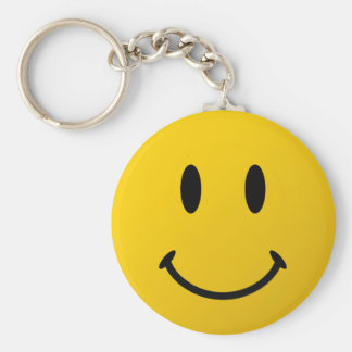 The Original Smiley Face Basic Round Button Keychain