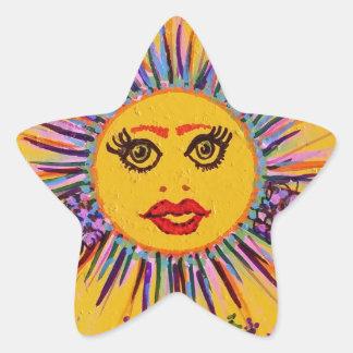 The Original Smiley Tiley Star Sticker